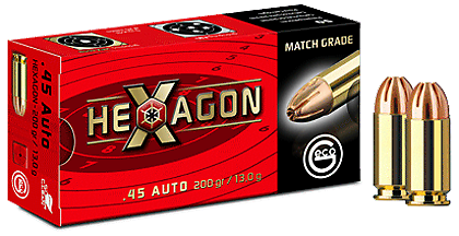 GECO .45 AUTO HEXAGON 13,0 g, 200 grs