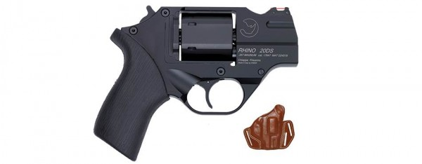 """Rhino 20 DS - Kaliber .357 Magnum - 2"""" - brüniert - mit Lederholster"""