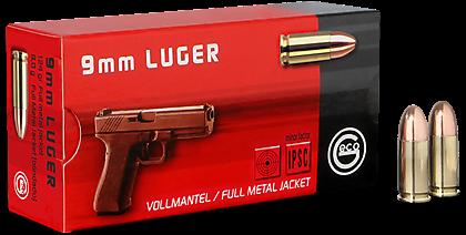 GECO 9mm Luger Vollmantel-Rundkopf 8,0 g 124 grs